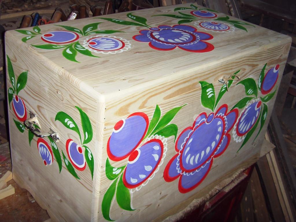 Роспись сундука своими руками мастер класс 44